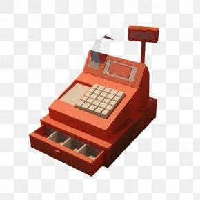 Orange Supermarket Cash Register - Supermarket Cash Register Cashier PNG
