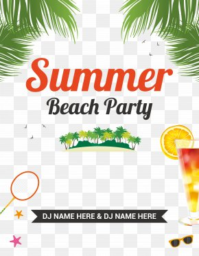 Beach Party Flyer - Party Beach Flyer PNG