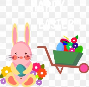 Happy Easter Bunny Icon Vector - Easter Bunny Easter Egg Icon PNG