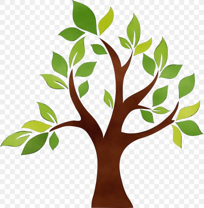 Tree Green Leaf Plant Clip Art, PNG, 929x948px, Watercolor, Branch, Flower, Green, Leaf Download Free