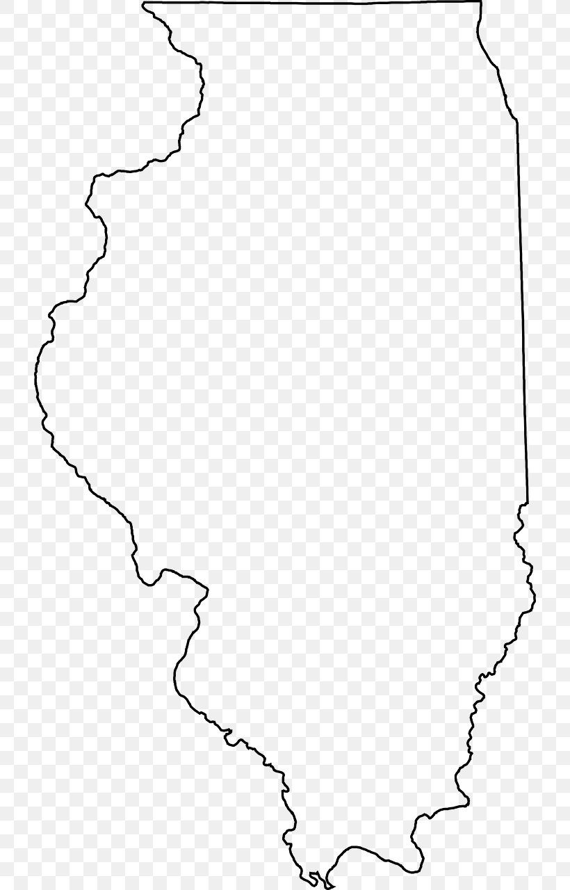 Picture of: Illinois Blank Map Vector Map Clip Art Png 722x1280px Illinois Area Black Black And White Blank