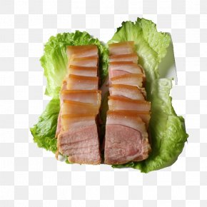 Lettuce And Bacon - Sashimi Bacon Tataki Chinese Sausage Meat PNG