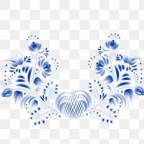 Blue Symmetrical Winding Flower Rat Vector Material - Symmetry Pattern PNG