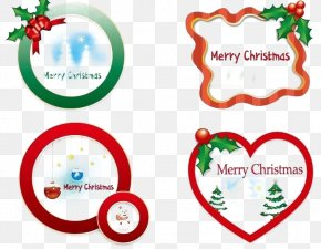 Christmas Heart-shaped Card Free Round Buckle Material - Christmas Decoration Heart PNG