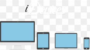 Electronics Family Of Four - Brand Multimedia Gadget Pattern PNG