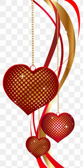 Valentine's Day Decorative Hearts PNG Clip Art Image - Heart Clip Art PNG