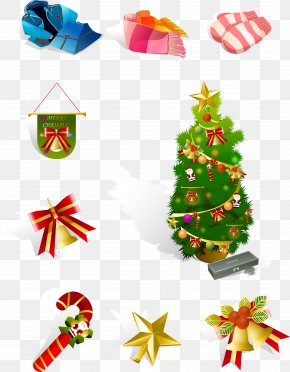 Christmas Tree Decoration Collection - Candy Cane Christmas Ornament Christmas Tree PNG