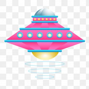 Pieces Of Red Blue Cartoon Spaceship - Spacecraft Science Fiction Icon PNG