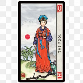 Chinese Traditional Virtues - Chinese Tarot The Fool Playing Card Major Arcana PNG