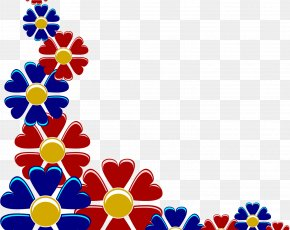 Russia Day Template Design - Clip Art Borders And Frames Flower Openclipart PNG