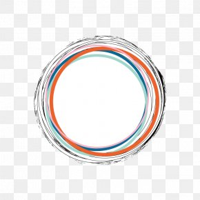 Hand Colored Line Border - Color PNG