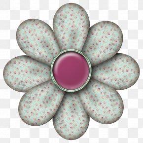 Mint Flowers - Monochrome PNG