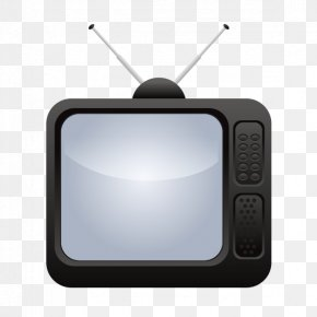 Vector Old Black And White TV - Television Set PNG