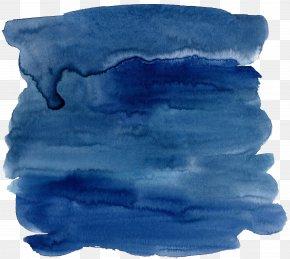 Dark Blue Watercolor Effect - Blue Watercolor Painting Ink PNG