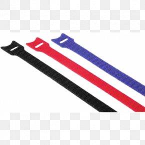 Hook-and-loop Fastener - Hama Hook-and-loop Cable Tie Red Electrical Cable Hook-and-Loop Fasteners Hama Hook And Loop Cable Ties PNG