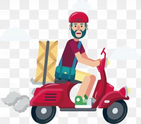 Red Motorcycle Courier - Motorcycle Courier Motorcycle Courier PNG