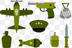 Green Army Equipment - Airplane Army Military Soldier PNG