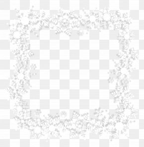 White Snowflake Border - Black And White Area Pattern PNG