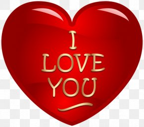 I Love You - Love Heart Clip Art PNG