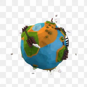 Low Poly - Low Poly Earth Cinema 4D Polygon Mesh Rendering PNG