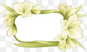 Spring Fresh Garland Border - Picture Frame Flower Illustration PNG