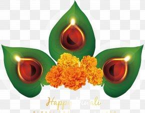 Hanukkah Leaf Candlestick - Diwali Diya Hanukkah Dussehra PNG