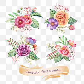 Watercolor Flowers - Flower Watercolor Painting Drawing Clip Art PNG