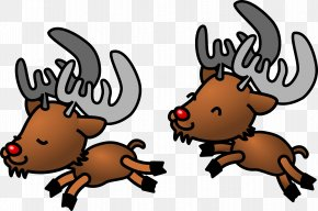 Christmas Reindeer Pictures - Rudolph Santa Clauss Reindeer Santa Clauss Reindeer Clip Art PNG