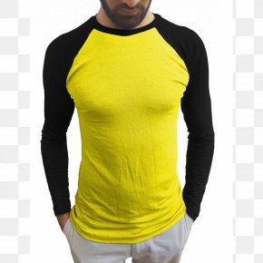 T-shirt - T-shirt Raglan Sleeve Yellow PNG