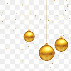 Golden Christmas Decoration Pattern Vector - Christmas Decoration Gold PNG