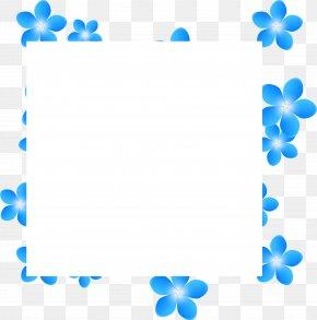 Blue Flower Frame - Blue Flower Clip Art PNG