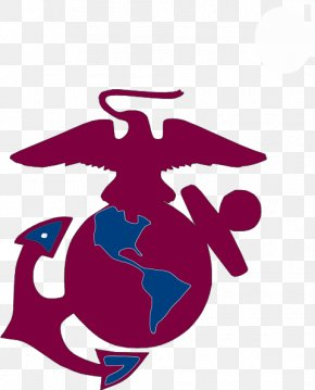 Burgundy Vector - Clip Art United States Marine Corps Eagle, Globe, And Anchor Logo Marines PNG