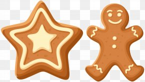 Christmas Gingerbread Cookies Clip Art - Icing Gingerbread House The Gingerbread Man PNG