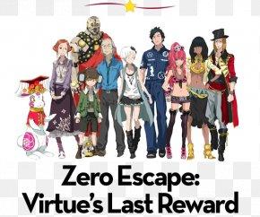 999 Virtue's Last Reward - Zero Escape: Virtue's Last Reward Nine Hours, Nine Persons, Nine Doors Zero Time Dilemma Character Video Game PNG