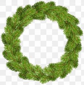 Christmas Pine Wreath Clip Art - Christmas Clip Art PNG