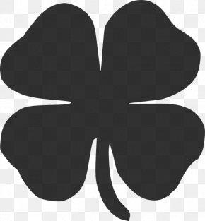 Four Leaf Clover Outline - Shamrock Four-leaf Clover Saint Patricks Day Clip Art PNG