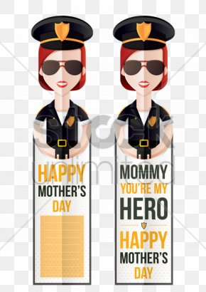 Mother's Day Illustration - Police Officer Mother's Day Clip Art PNG