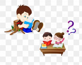 Read The Same Table - Reading Book Royalty-free Clip Art PNG