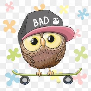 Skateboard Teenager - Owl Royalty-free Euclidean Vector Stock Photography PNG