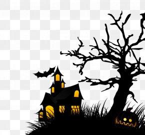 Black Devil House - Halloween Hayride Corn Maze House Wallpaper PNG