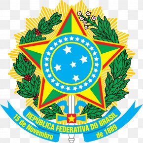 Brazil - First Brazilian Republic Coat Of Arms Of Brazil National Emblem PNG
