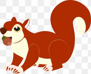 Cute Squirrel - Red Squirrel Tree Squirrels Clip Art PNG