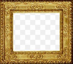 Gold Frame - Picture Frame PNG