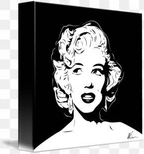 Drawings Of Marilyn Monroe Pop Art - Canvas Print Pop Art Poster PNG