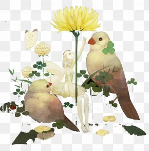Fairy And Bird - Fairy Illustration PNG