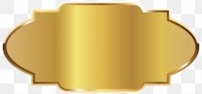 Golden - Label Template Clip Art PNG