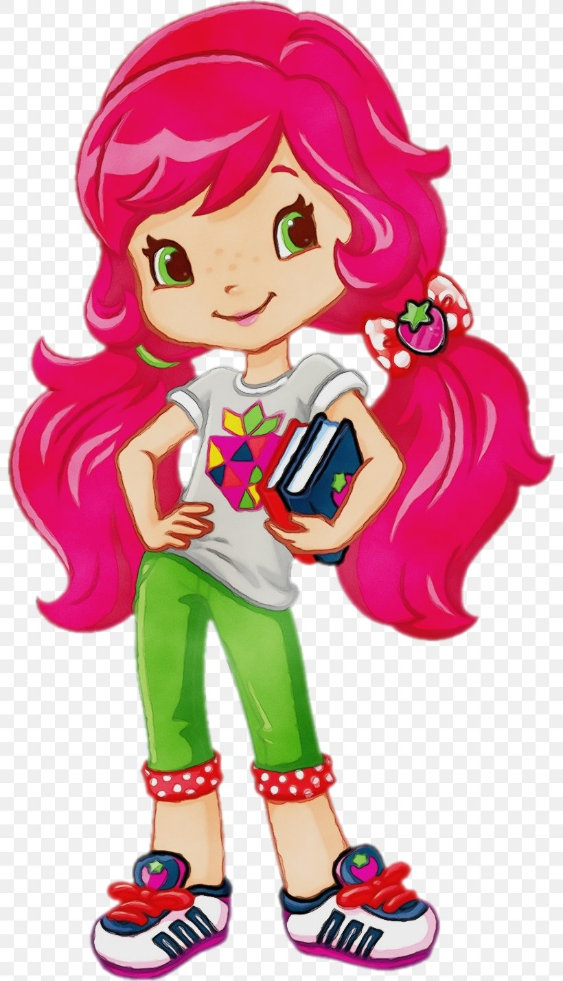 Strawberry Shortcake Cartoon Png 800x1428px Watercolor Book
