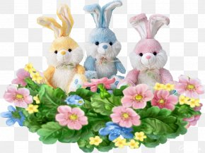 Flowers Happy Easter - Easter Bunny Picture Frames Easter Egg PNG