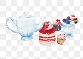 Drawing Teapot Tea Cake - Teacake Teapot Kettle PNG