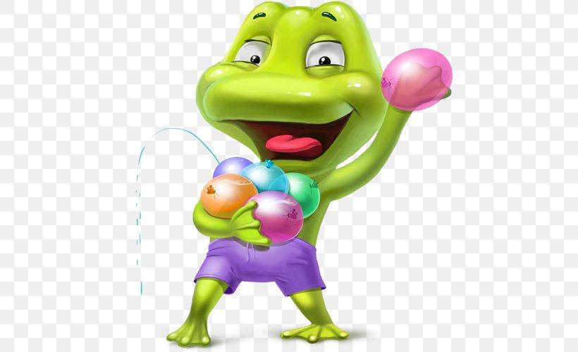 Camfrog Summer FUN Show Gift Water Balloon, PNG, 500x500px, Camfrog, Amphibian, Animation, Cartoon, Fictional Character Download Free